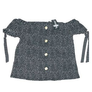 Boohoo off the shoulder blouse